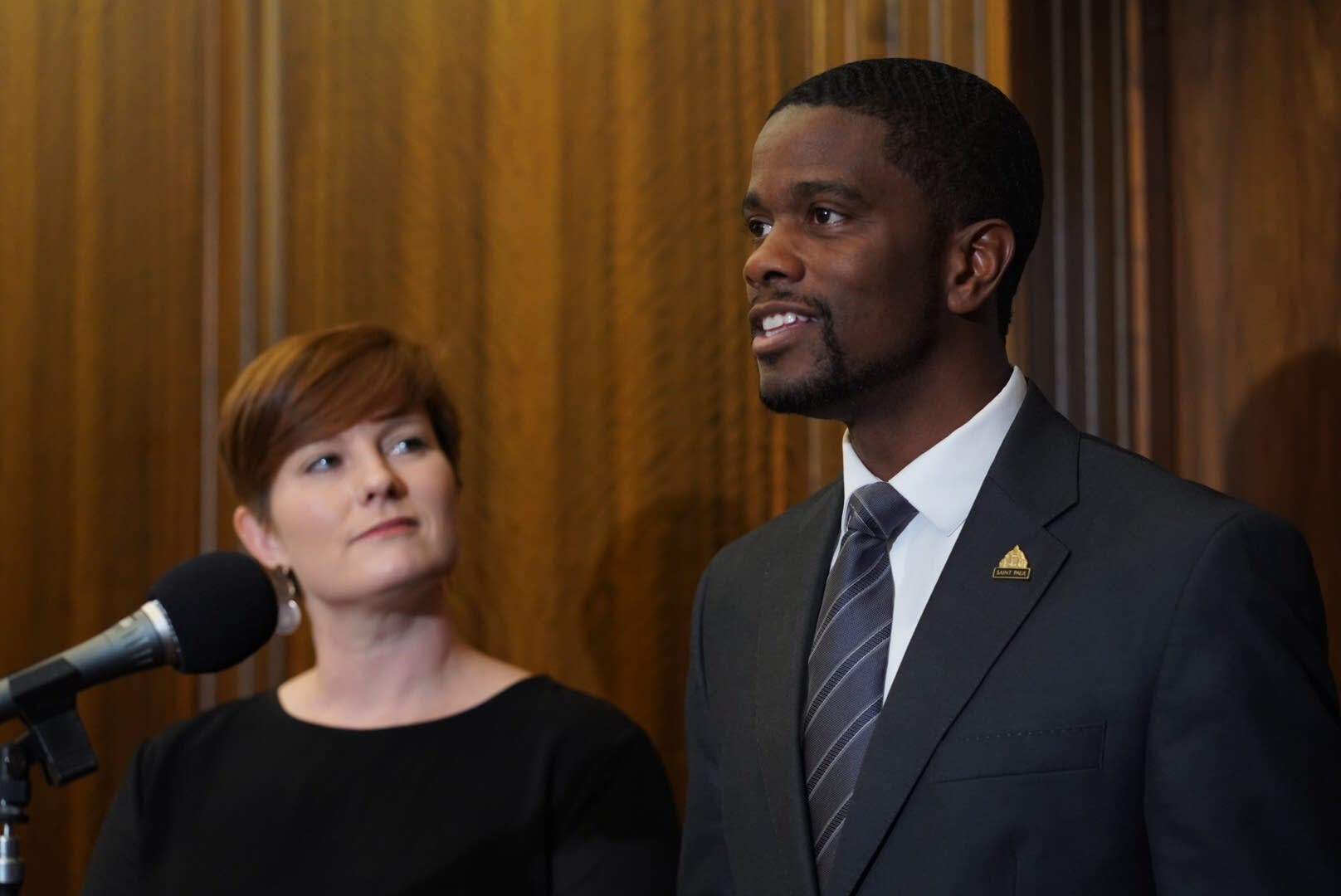 St. Paul Mayor Melvin Carter announces a $15 an hour minimum wage.