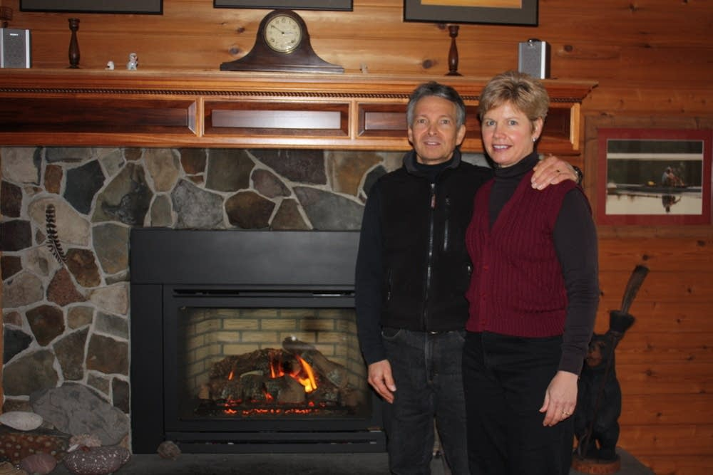 The O'Link's use a gas fireplace in winter