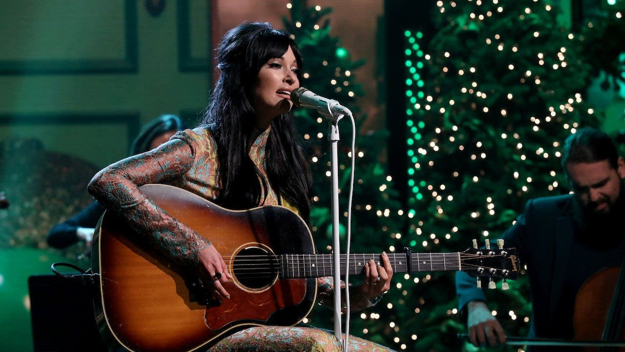 Kacey Musgraves performing on The Ellen DeGeneres Show