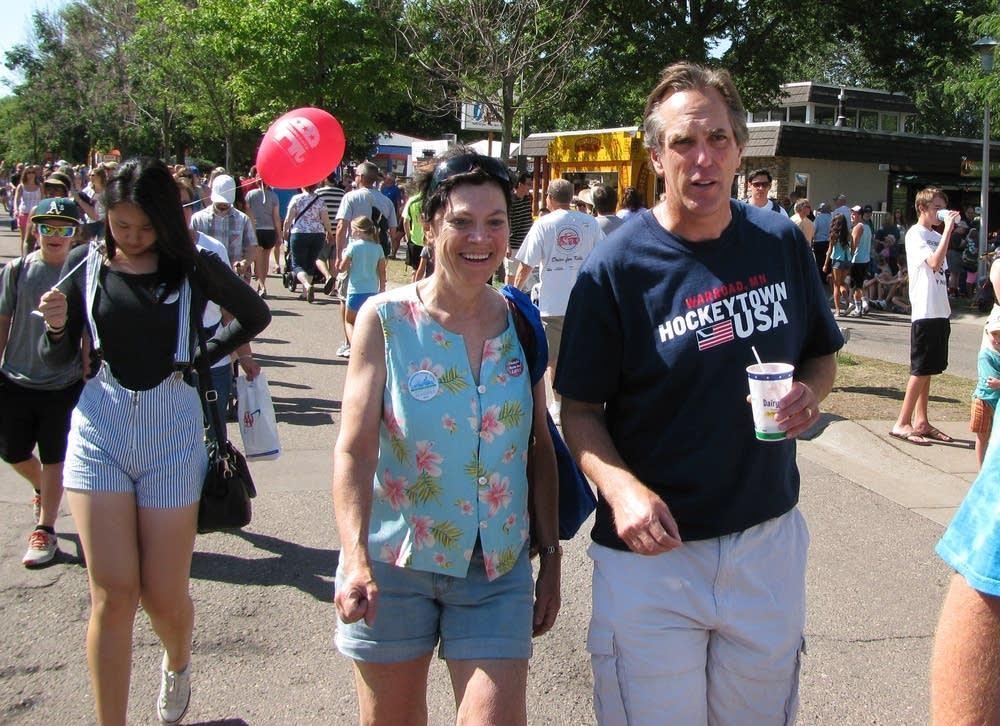 McFadden walked around the fairgrounds.