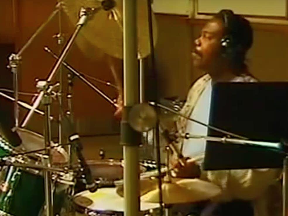 Drummer Ndugu Chancler, in a video still.