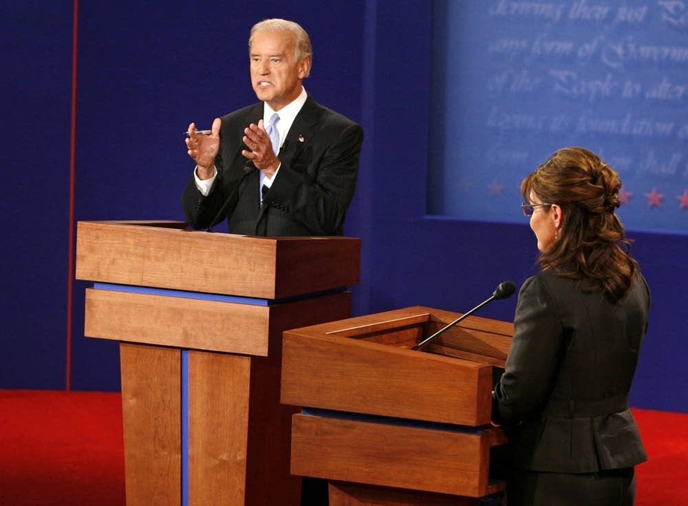 Sen. Joe Biden answers a question at the debate