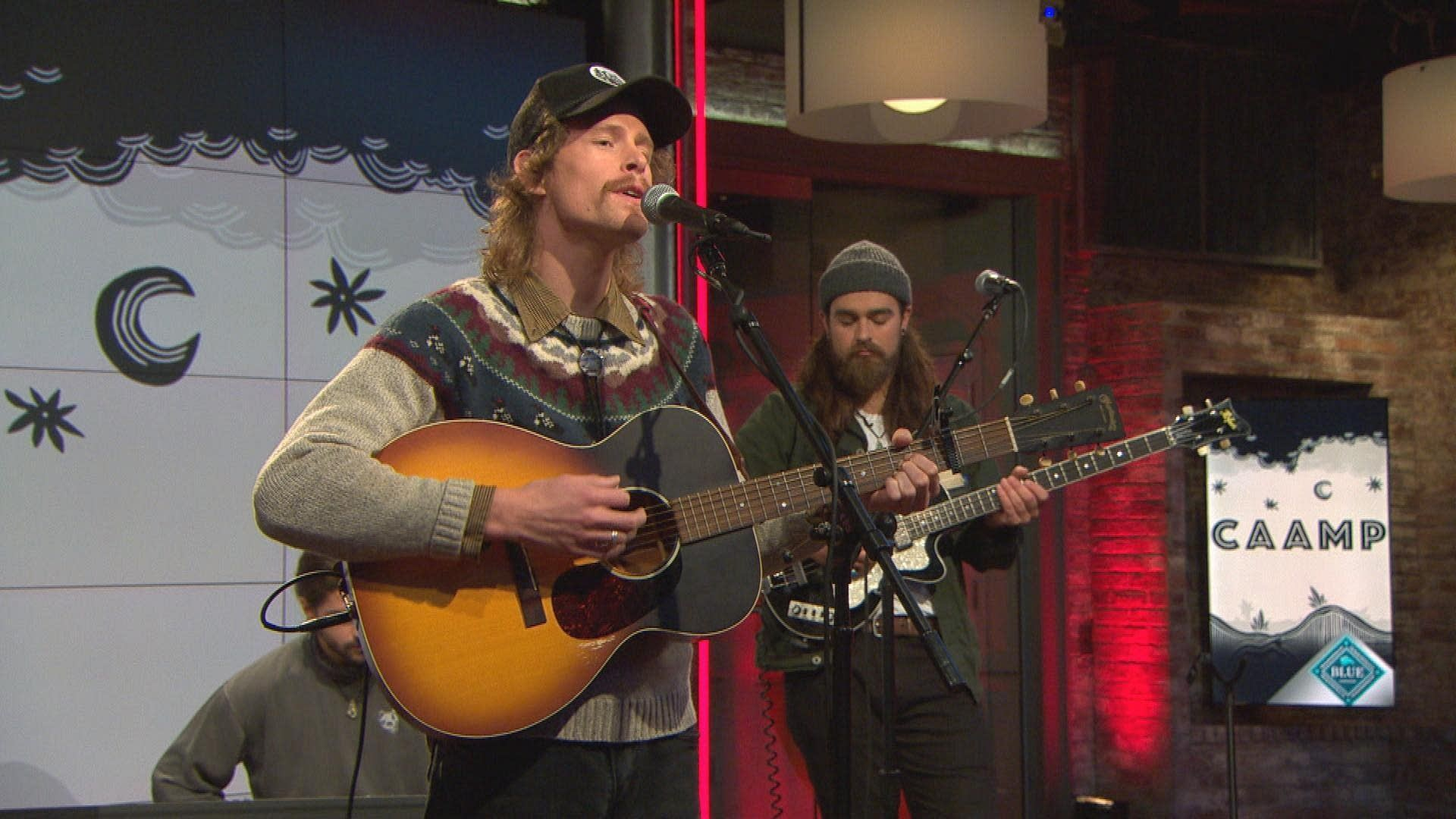 Caamp perform on CBS This Morning Saturday Sessions