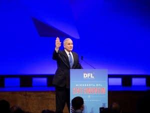 Dayton addresses the convention delegates.