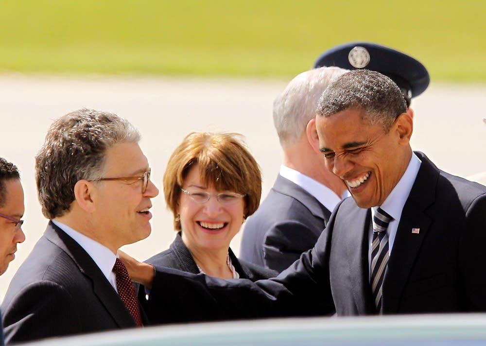 Barack Obama, Al Franken, Amy Klobuchar