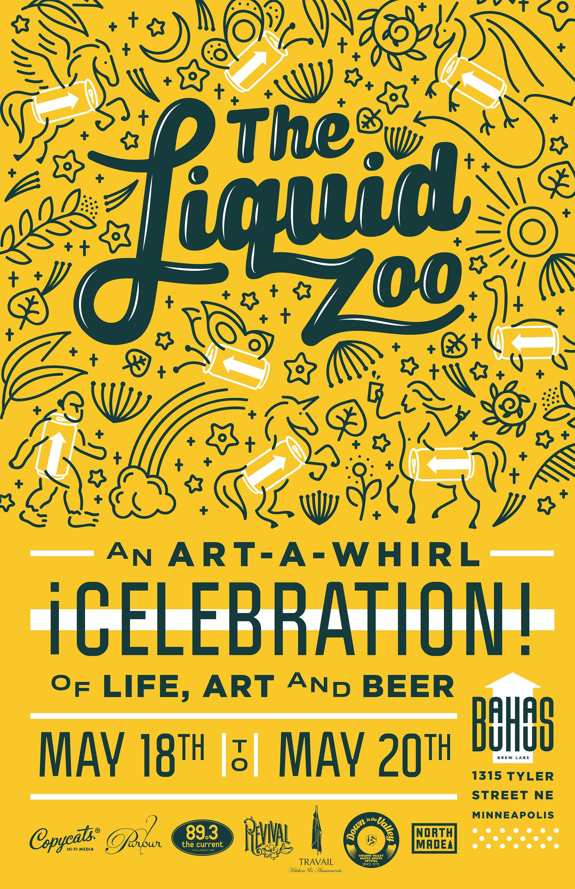 Bauhaus Liquid Zoo Art-a-Whirl Celebration
