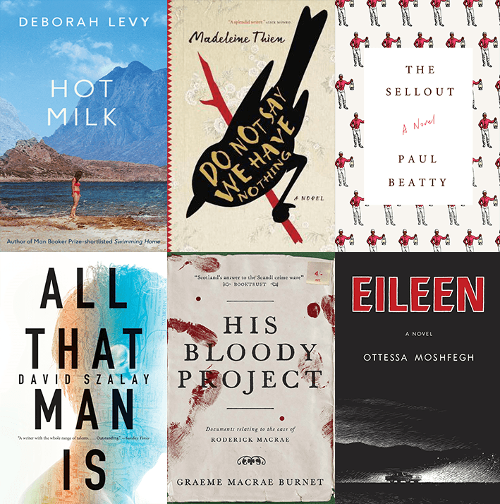 The shortlist for the 2016 Man Booker Prize