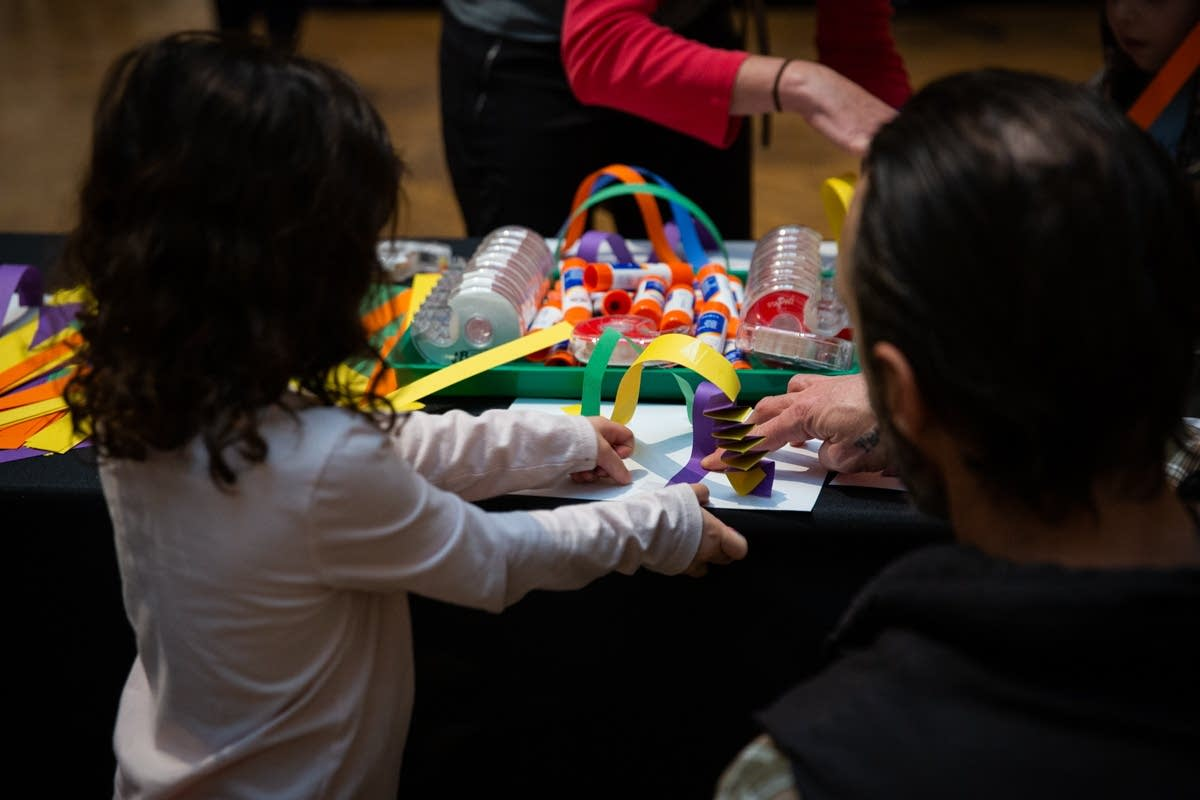 Making crafts at Rock the Cradle 2020.