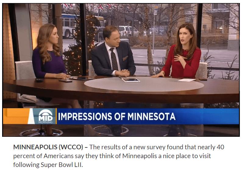 CBS Mid-morning show: Super Bowl Impressions survey