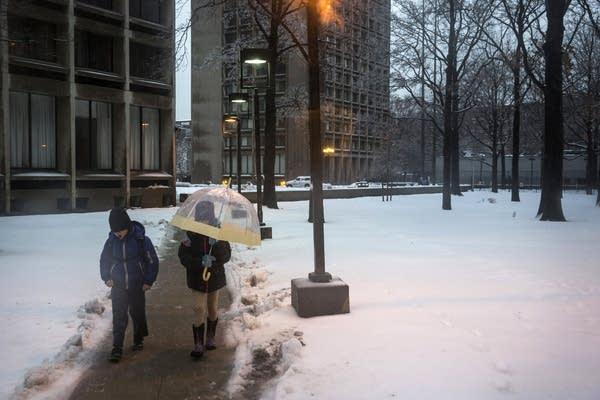 Children walk to school