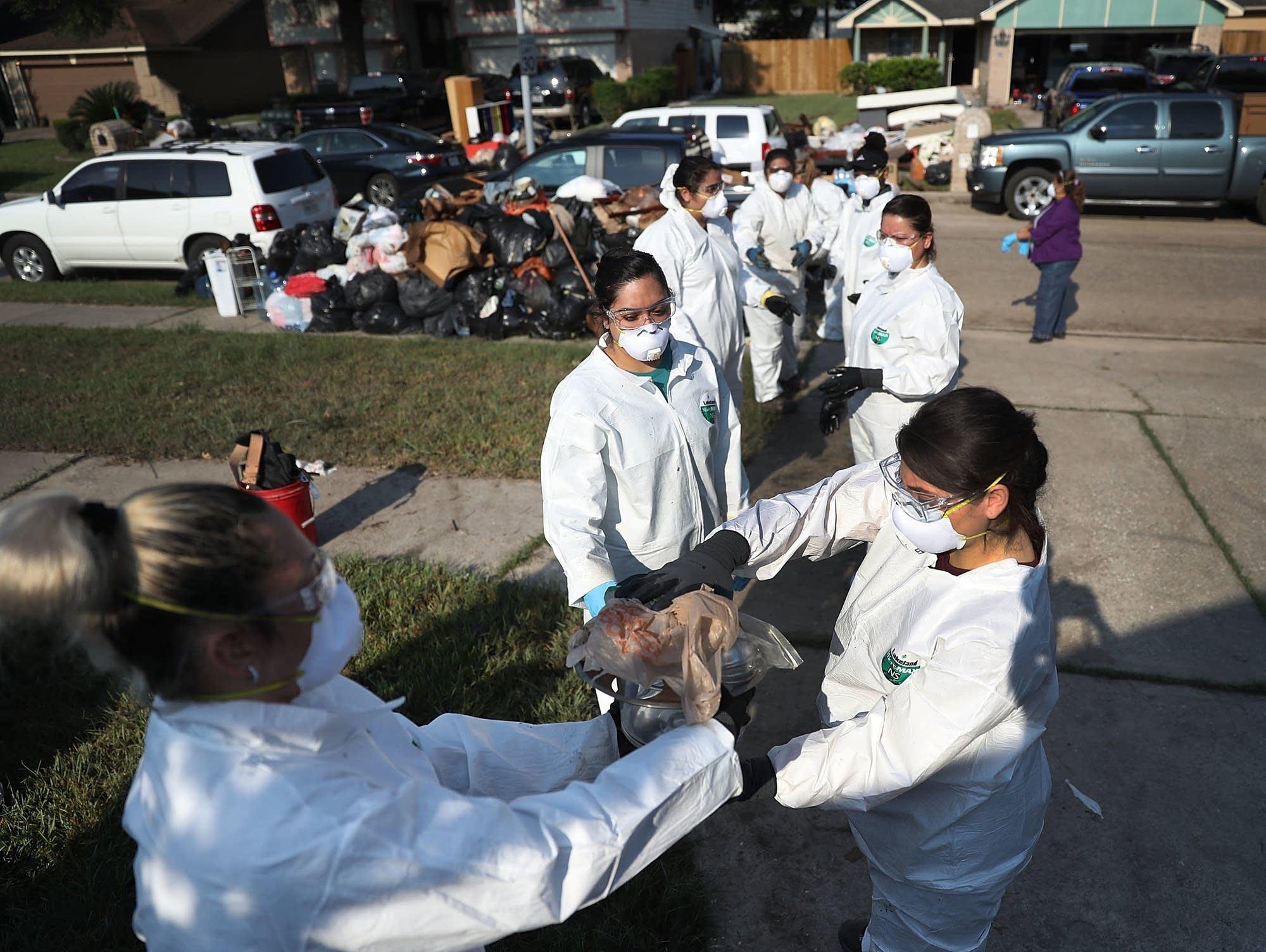 Cleanup after Harvey hit Houston last September