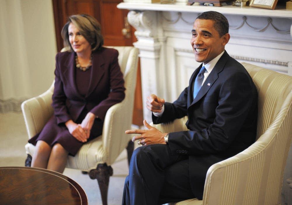 Obama and Pelosi