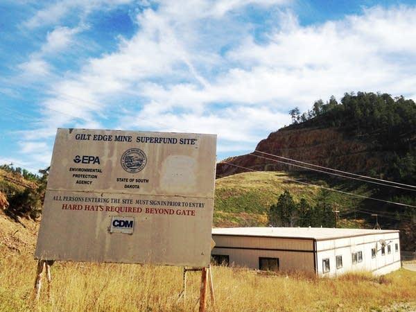 The 360-acre Gilt Edge Mine site
