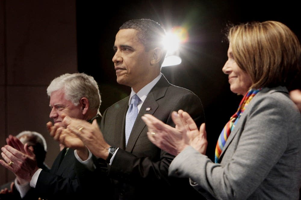 Barack Obama, Nancy Pelosi, John B. Larson