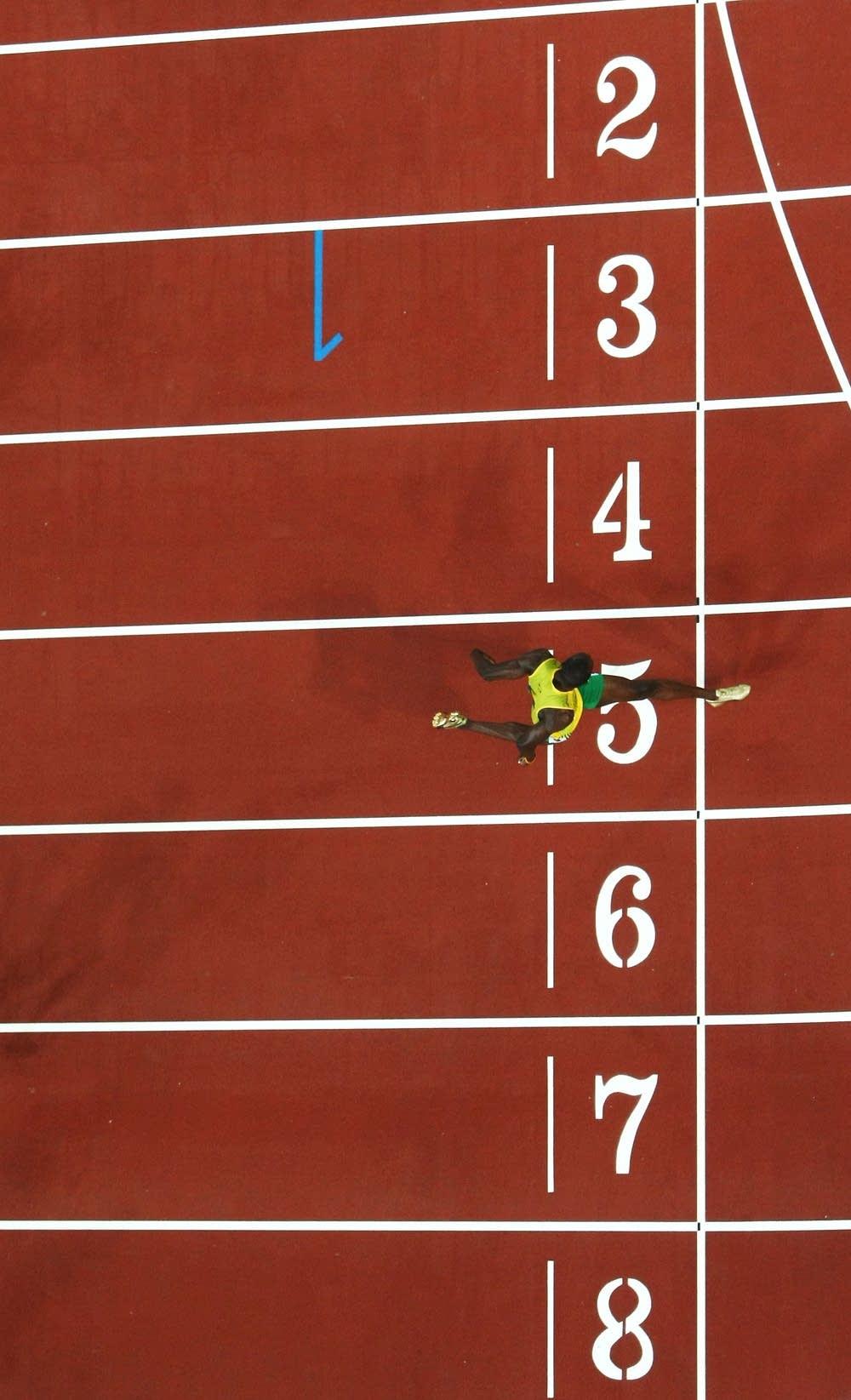 Bolt sets a new world record