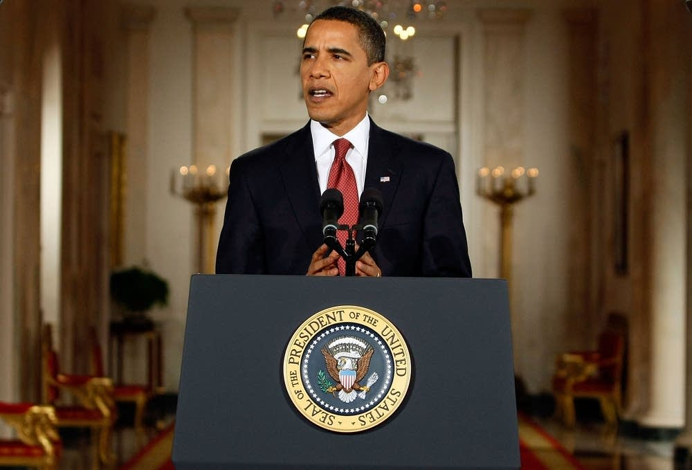 Obama Holds First White House Press Conference