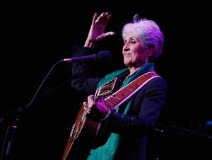 Joan Baez performs