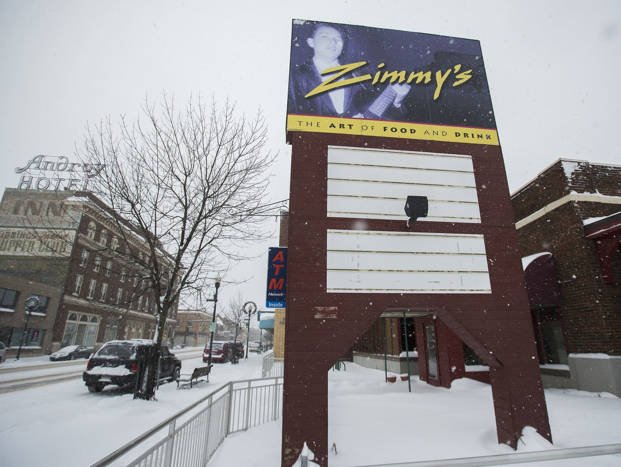 The former Zimmy's restaurant in Hibbing, Minn.