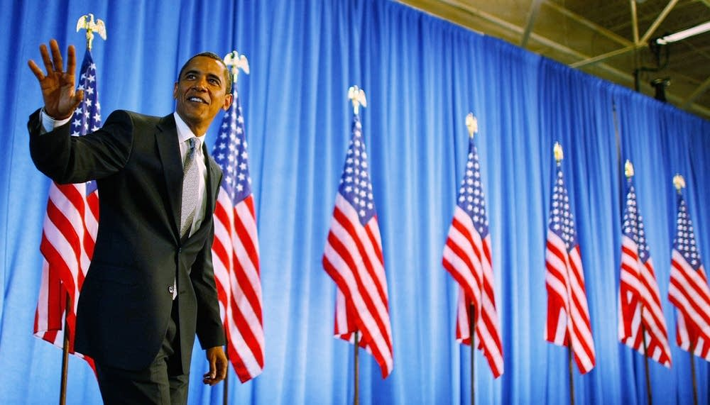 Barack Obama in Lake Worth, Florida.