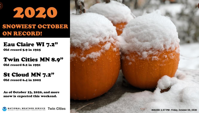 October snowfall record