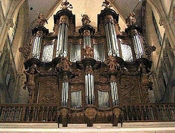 1725 Moucherel organ at Mouzon Abbey, France