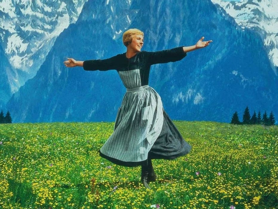 Julie Andrews in 'The Sound of Music'