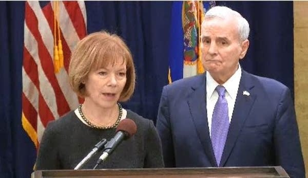 Lt. Gov. Tina Smith and Gov. Mark Dayton