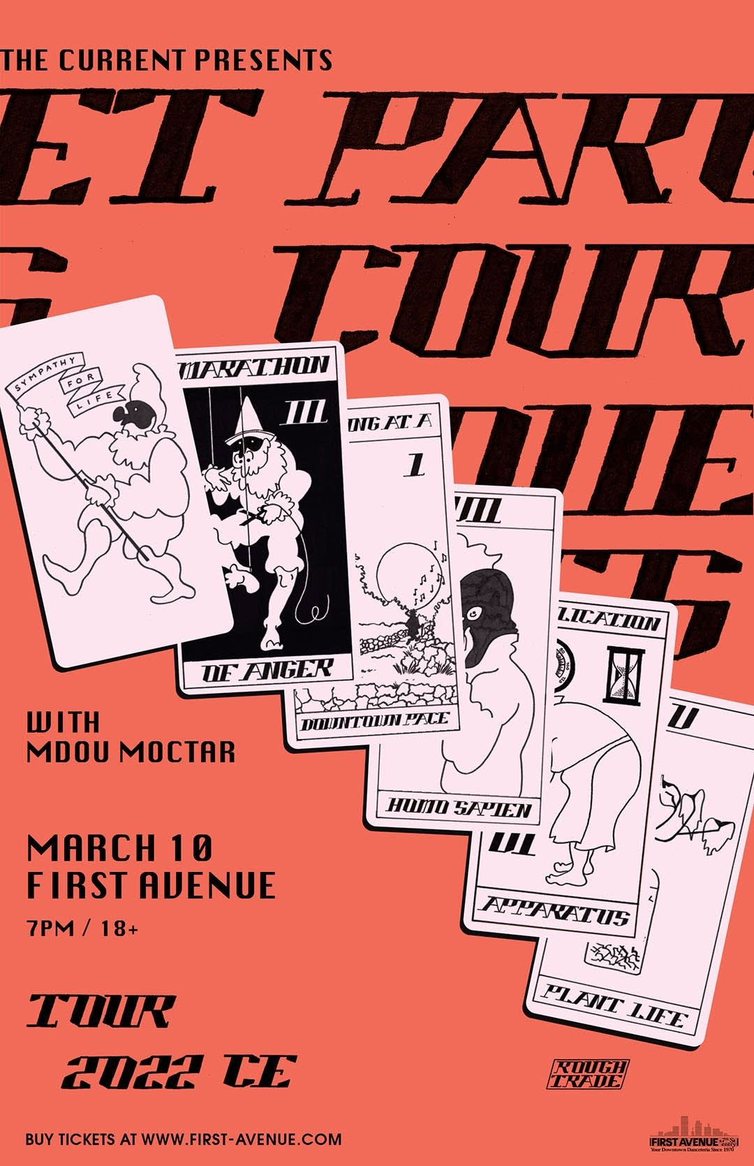 Parquet Courts at First Avenue poster