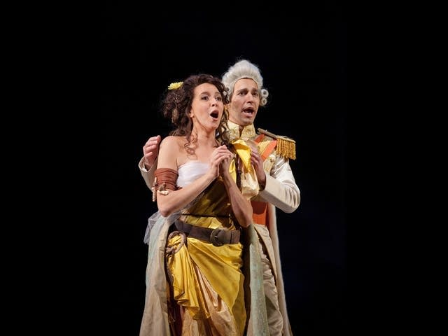 Oropesa as Miranda and Costanzo as Ferdinand
