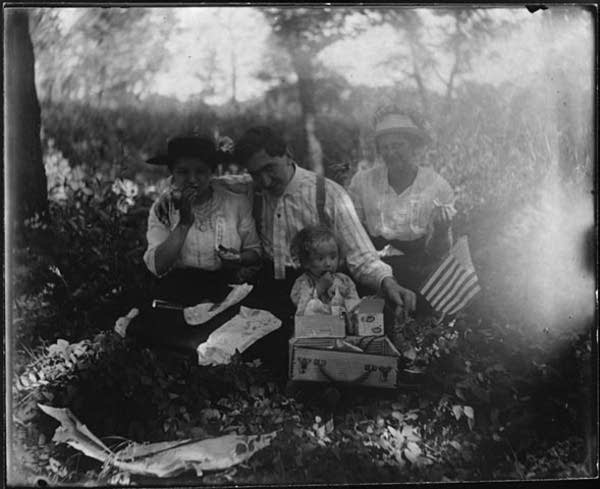 Fourth of July picnic circa 1905