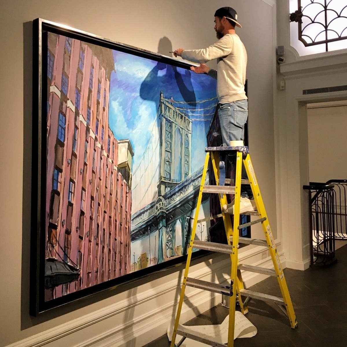 Installing a Bob Dylan painting