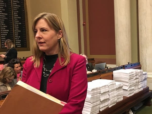 House Minority Leader Melissa Hortman, a DFLer of Brooklyn Park.
