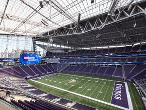 The field of the new Vikings stadium