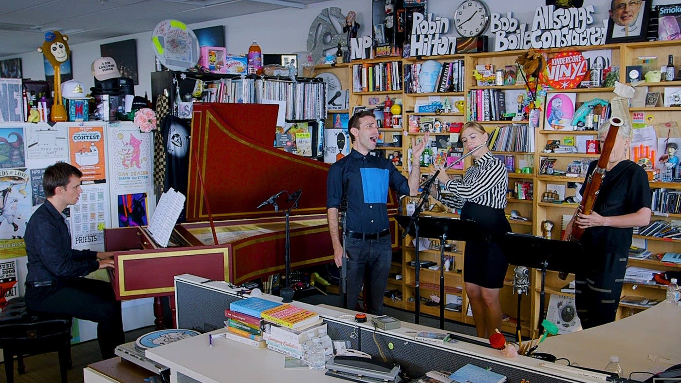 Countertenor Anthony Roth Costanzo performs at NPR's Tiny Desk.