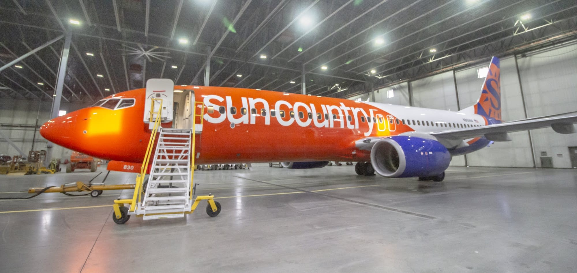 Sun Country Airlines new look.