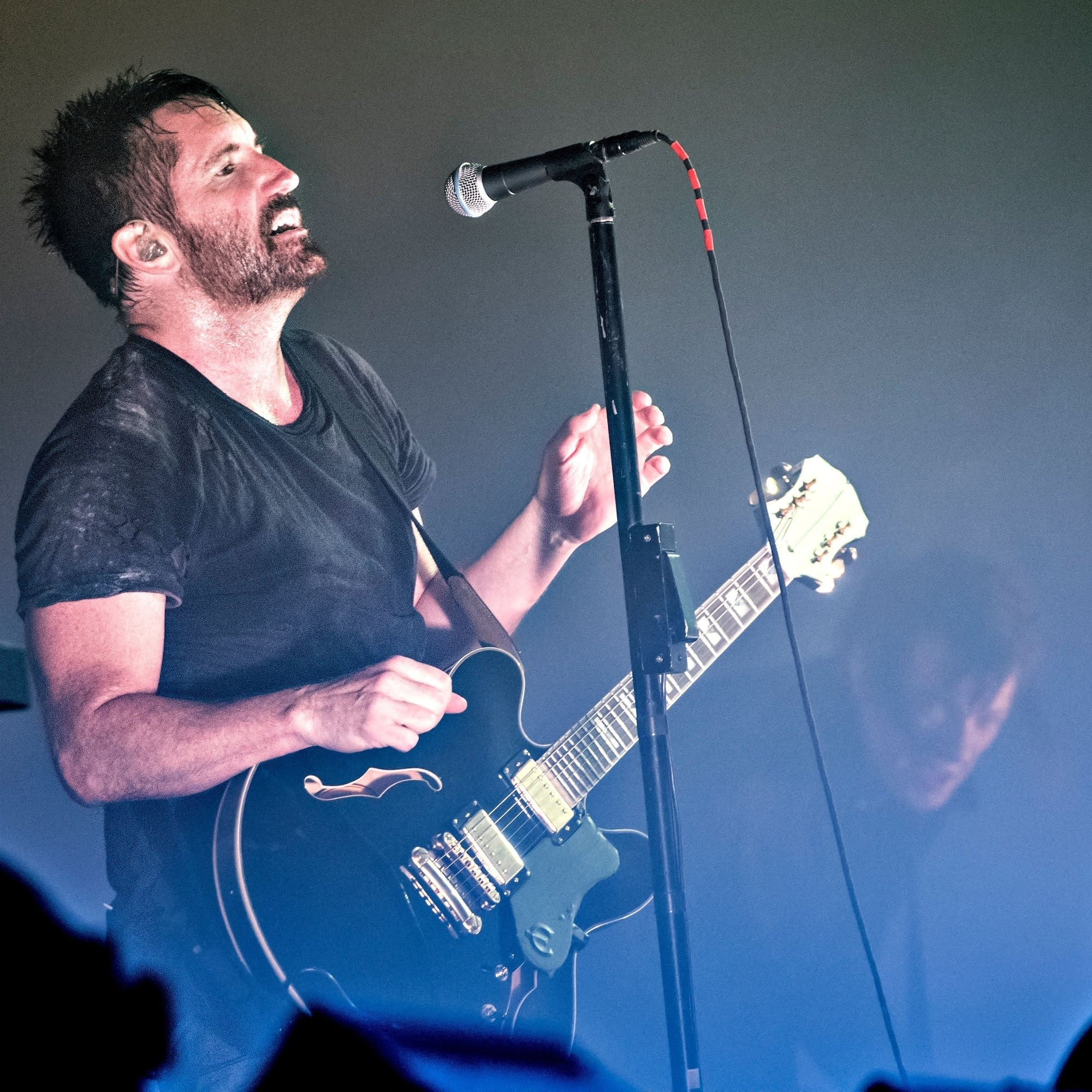 Nine Inch Nails perform at Roskilde, 2018.