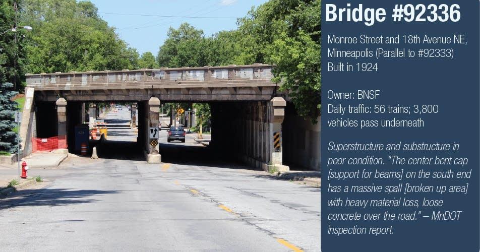 South bridge over Monroe Street, Minneapolis