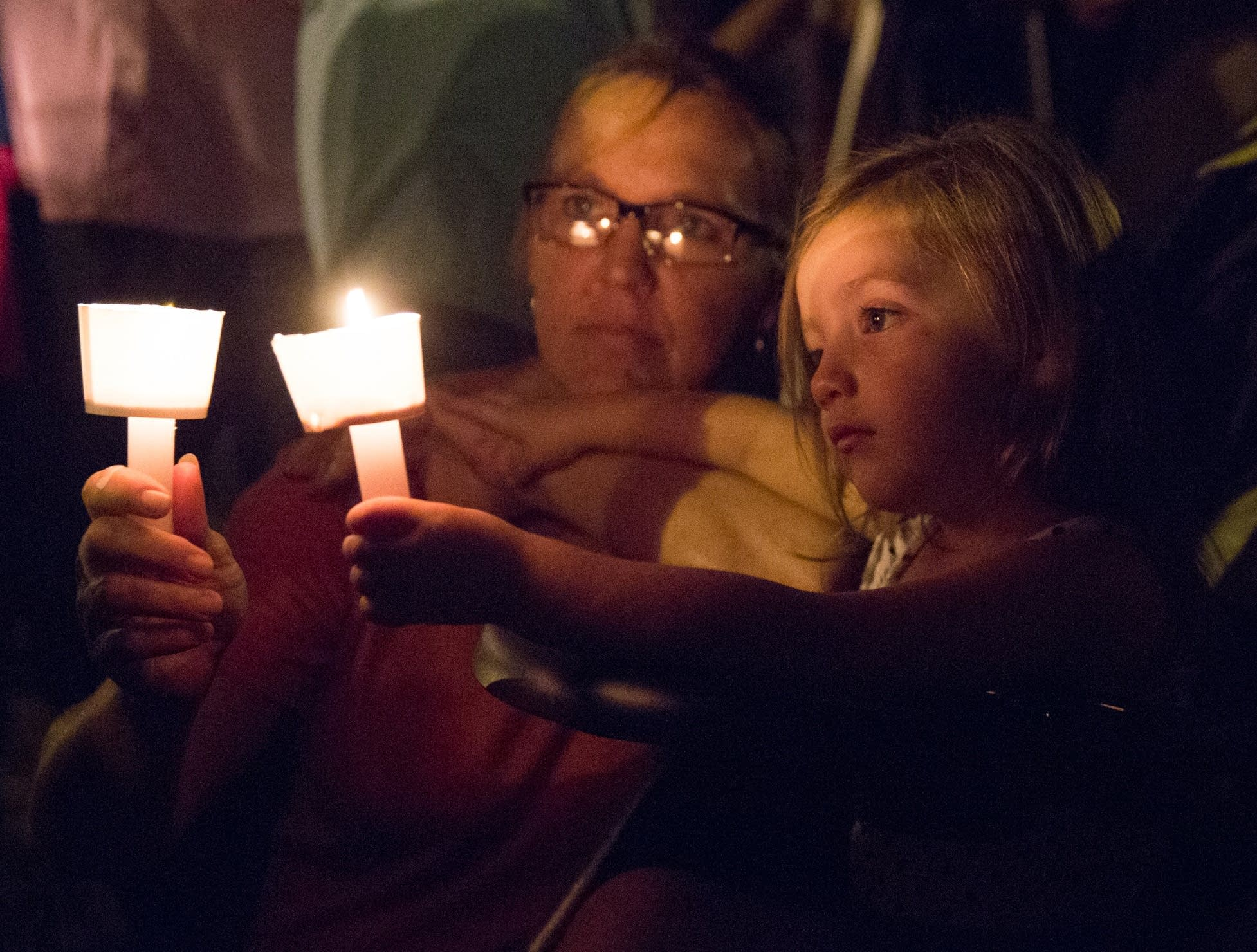 A candlelight vigil is observed on Sunday.
