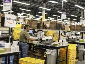 Inside the Amazon Fulfillment facility in Shakopee