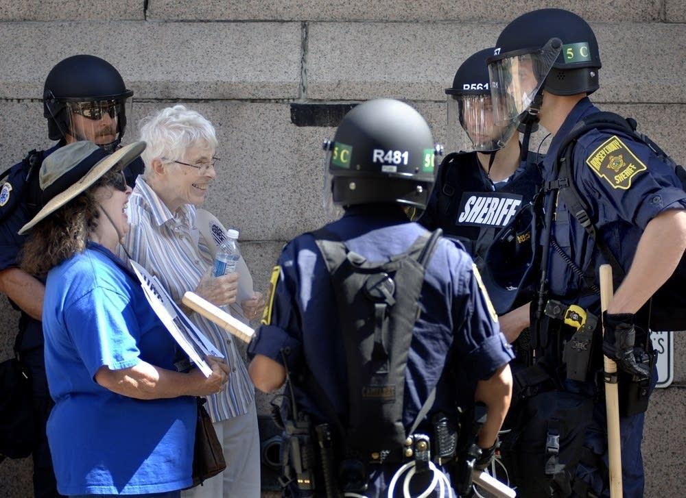 Nun arrested