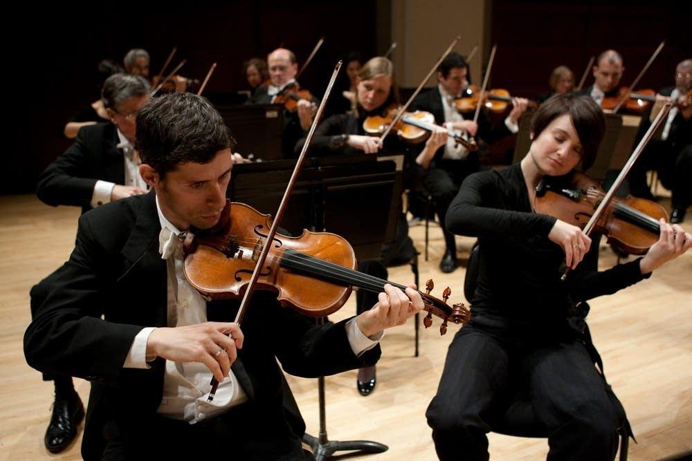 North Carolina Symphony string section
