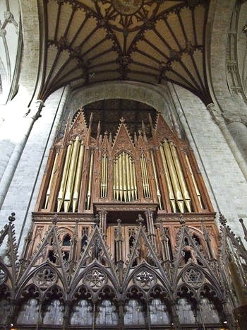 1854 Henry Willis; 1988 Harrison organ at Cathedral, Winchester, England, UK