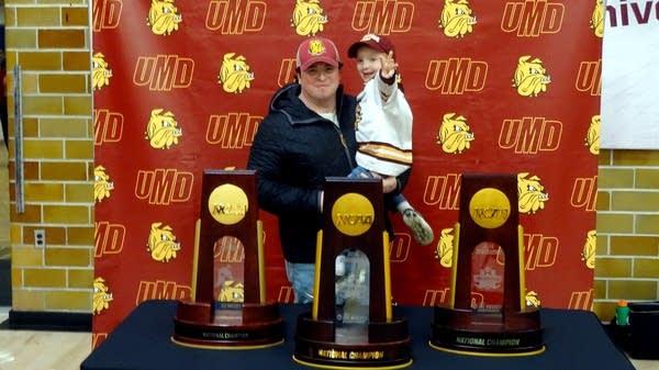 UMD Bulldogs men's hockey team championship celebration