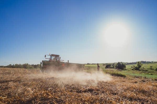 Farm machinery in Washington County, Iowa.