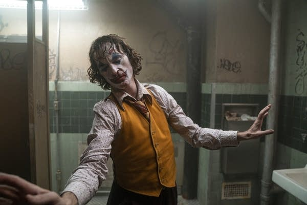 "Joaquin Phoenix in a scene from ""Joker."""