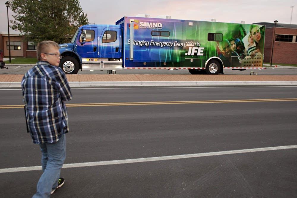 Four large truck make training mobile