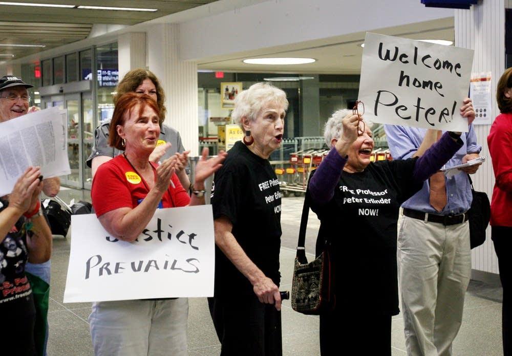 Supporters welcome Erlinder