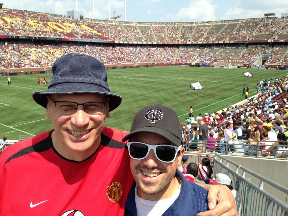 Mark Wheat and David Safar at summer fixture