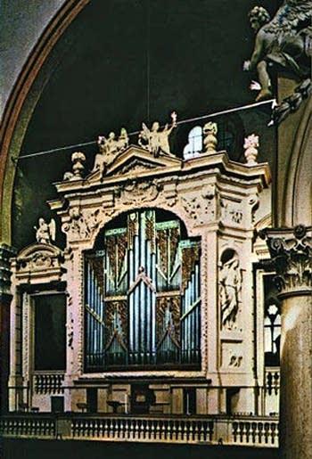 15th century da Prato organ at the Basilica di San Petronio [Basilica of Saint Petronio], Bologna, Italy