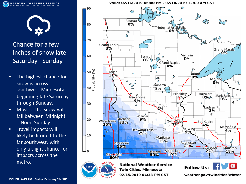 Frost depth increasing; light snow Sunday | MPR News
